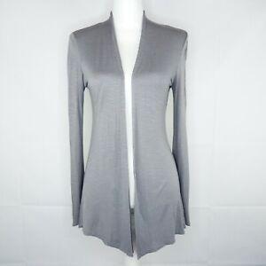 Anthropologie Robin K Cardigan Women Size S Sweater Gray
