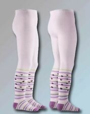 Playshoes Strumpfhose Calzas morados rosa y verde 6-12 meses