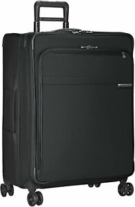 BRIGGS & RILEY Black Baseline CX Large Expandable Spinner Suitcase 28-Inch NWT