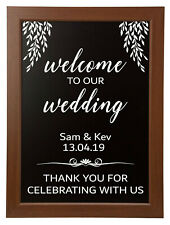 Welcome to our Wedding Custom Personalised Sticker Sign BLACKBOARD NOT INCLUDED
