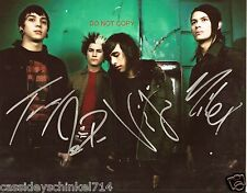 """Pierce the Veil band Reprint Signed 8x10"""" Photo #1 RP ALL 4 Members Vic Fuentes"""