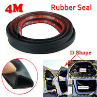 4M D Shaped Car Door Edge Sloping Rubber Seal Strip Hollow Weatherstrip Trim