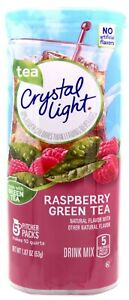 4 10-Quart Canisters Crystal Light Raspberry Green Tea Drink Mix