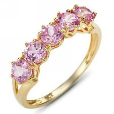 Beautiful Size 9 Cute Pink Sapphire 10KT Gold Filled Women's Anniversary Ring
