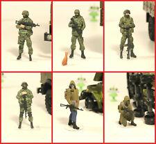 1:43 Militar Figure russian Green man & Ukraine Stalker ZIL KAMAZ URAL GAZ USSR