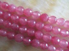 "8mm faceted pink Ruby Loose Beads Gemstone 15""##HK1150"