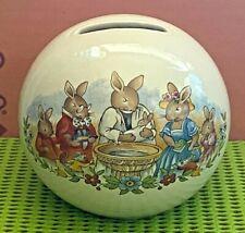 More details for royal doulton -beatrix potter-bunnykins-money box-christening/baptism-vintage