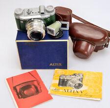 ALTISSA Altix V *kursiv grün + Tessar 2,8/50 Carl Zeiss Jena + Sucher ☆☆☆ (S472