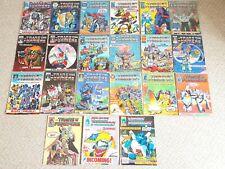 Vintage Marvel Comics UK Transformers X 21 Issues 42 - 271