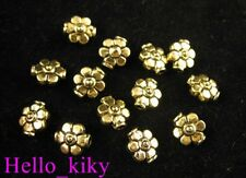 120pcs Antiqued gold plt flower pot spacer beads A203