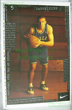 NITF ☆ UNTRIMMED ☆ NIKE Basketball Poster ☆ Jason Kidd Dallas Mavericks ☆ #5485