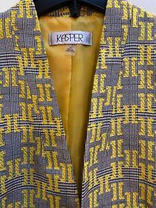 KASPER Women's Blazer 16 Suit Jacket Career Yellow bright focus dandelion