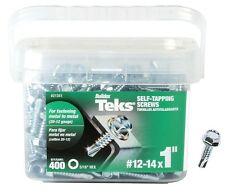 "Teks 21341Self-Tapping Screws, #12-14 x 1"", 400 Piece"
