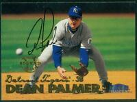 Original Autograph of Dean Palmer of the Detroit Tigers on a 1999 Fleer