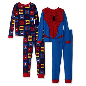 Marvel Boys Spiderman 4 Piece Cotton Pajama Set Size 10
