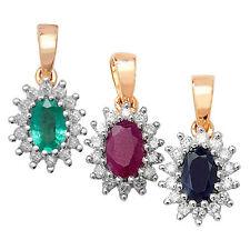Collares y colgantes de joyería con gemas de oro amarillo esmeralda