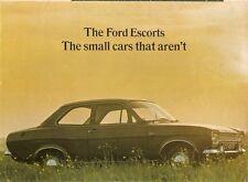 Ford Escort Mk1 1968-69 UK Market Foldout Sales Brochure De Luxe Super GT Estate