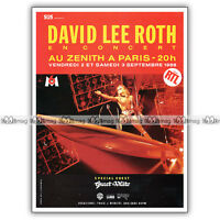 PUB DAVID LEE ROTH au Zenith de Paris - Original Advert / Publicité Concert 1988