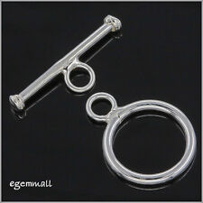 925 Sterling Silver Simplicity Toggle Clasp 14mm #51616