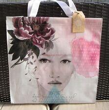 Pretty Sun Speak Recycled Large Market Shopper Big Tote Papaya Art Shopping Bag