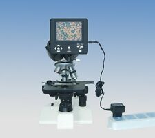 "Compound Microscope Digital Camera eyepiece w/ 3.6"" LCD Monitor Screen"