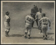 1954 Orig Dodgers vs Reds Press Photo - Klu Homers