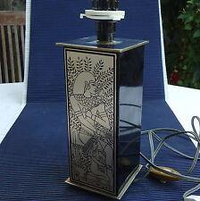 Pied de Lampe Design Vintage Luxe Laiton Massif Décoré 28x9x9 Cm 1,380 Kgs An 70