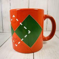 Waechtersbach Plaid Red White Green Christmas Coffee Tea Mug Cup Germany