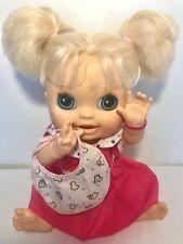 Hasbro Baby Alive Doll REAL SURPRISES 2012 Blonde Talks English Spanish