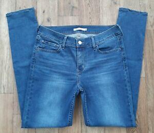 Ladies Levis 710 Super Skinny Jeans size 12 14 Waist 31 Leg 30 Levi blue