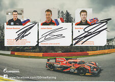 Rusinov, Canal, Bird Hand Signed G-Drive Promo Card 2015 Le Mans