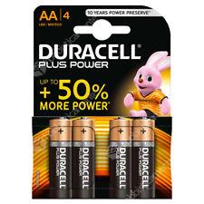 4 PILE STILO TIPO AA DURACELL PLUS POWER 1,5 V BATTERIA ALCALINA +50% DURALOCK