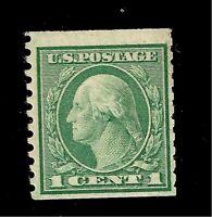 US 1916 Sc# 490 1 c Washington Mint H Coil - Crisp Color
