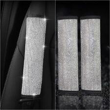 2x Rhinestone Seat Belt Shoulder Pad Cover Cushion Bling Car SUV Airplane Trunk