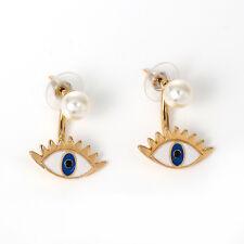 Oro Placcato Evil Eye ORECCHINI-UK Venditore & ** FREE ** stesso giorno Affrancatura