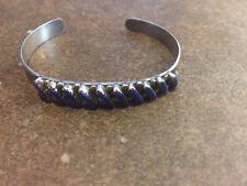"ALP Sterling Silver Vintage 925 Navajo Cuff Lapis Bracelet 6"" (10.8g)"
