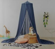 Pillowfort Voile Blue Canopy with White Trim ~ NEW Over Twin Bed Play Area