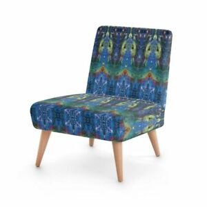 Chakra Meditation Designer Occasional Chair, Handmade to order Sustainable Wood