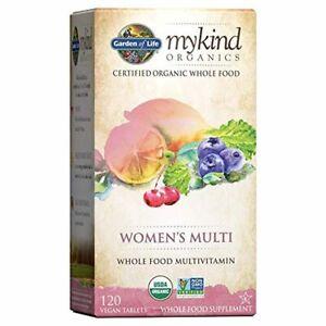 Garden of Life Multivitamin for Women mykind Organic Whole Food Vitamin 120 Tabs
