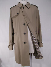 NWT AQUASCUTUM impermeabile FAIRMOUNT uomo trench raincoat BEIGE tg. 56(IT)