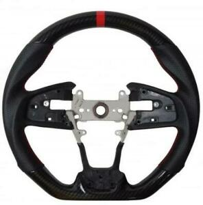 10th Gen Honda Civic 16-21 Cipher Performance Leather Steering Wheel HydroCarbon