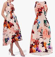 COAST NEW Floral Print Twill Midi Dress in Multi Sizes 8 to 18