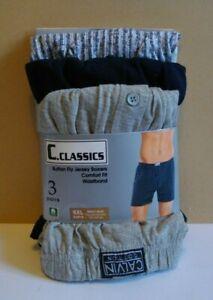 NEW 3 x Men's Calvin Cotton 4xl Boxers Pant Underwear Y Fronts