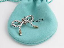 Tiffany & Co RARE Silver 18K Gold Ribbon Bow Brooch Pin