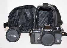 Yashica FX-3 Super Camera, CS-14 Flash, Lens & Nikon Black Camera Shoulder Bag