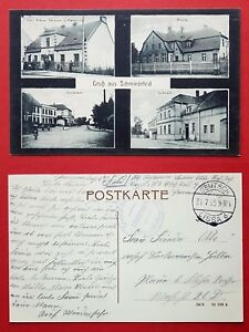 AK SCHMIEDEFELD bei Deutsch Lissa 1915 Bäckerei Carl Krause, Dorfstrasse ( 30974