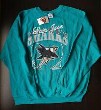 Vintage 90s SAN JOSE SHARKS SWEATSHIRT - 2XL NWT deadstock shirt/NHL/hockey 1992