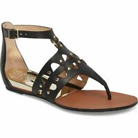 Vince Camuto Arlanian Black Leather Sandals 7.5M