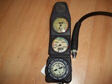 Sherwood Depth and Pressure Gauges with Compass for Scuba Diving