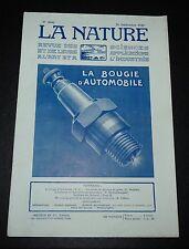 REVUE LA NATURE N°2686 1925 BOUGIE AUTOMOBILE / ETUDES PHYSIQUES DU GLOBE